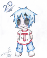 2-D chibi by GreenSpiralCat