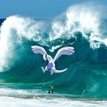 Lugia making a big wave! by ryanthescooterguy