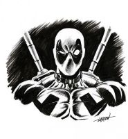 Deadpoolhead by LostonWallace