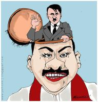 Mahinda Rajapska New Hitler by StopGenocideDotCA