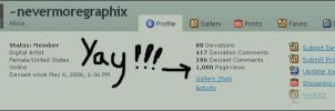 YAY 1000 PAGEVIEWS by nevermoregraphix