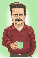 Ron Swanson by normandapito