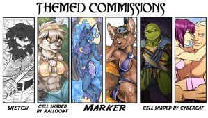 Now Taking Themed Sketch an Full Color Commissions by lady-cybercat