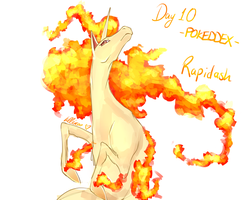 POKEDDEX DAY 10 - Rapidash by Chao-Illustrations
