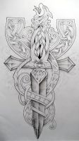 Celtic Cross2 by Tattoo-Design