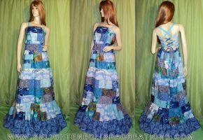 Hippie Patchwork Festival Maxi Dress by RedheadThePirate