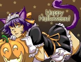 Halloween Post Card by glance-reviver
