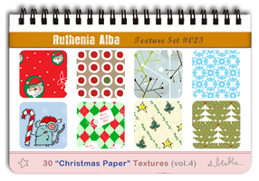 Txt Set 23: Xmas Paper 4 by Ruthenia-Alba