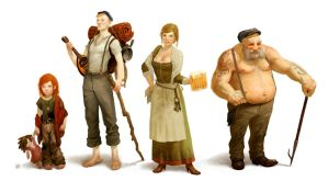 Irish Townsfolk by DenmanRooke