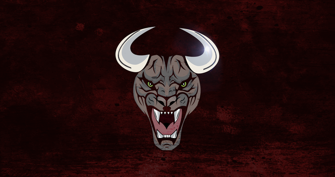 Horned Black Tiger Logo by MissingPotato