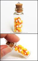 Candy Corn Bottle Charm by Bon-AppetEats