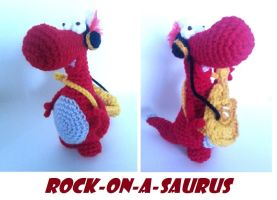 Rock-on-a-saurus by WuMeDesign