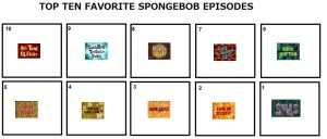 My Top 10 Favorite Spongebob Episodes by hmcvirgo92