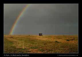 A post, a shed and a Rainbow by Andrew-and-Seven
