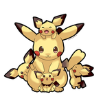 Mama Pikachu by SeviYummy
