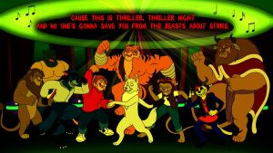 Commission - Thriller Dance Party by BennytheBeast
