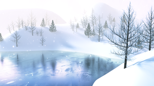 Snowy Pond by scoobster33