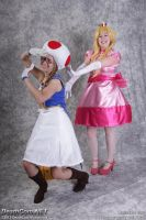 Meat Sheild - Peach and Toad by FuzzyRedPants
