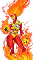 Female Firestorm by Dreekzilla