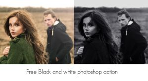 Free black and white photoshop action by lilydust