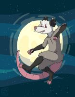 Opossum in space by go-ccart