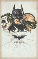 The Dark Knight Trilogy 2005-2012 by RyanLuckoo