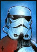 Stormtrooper Sketch Card by Azima-el