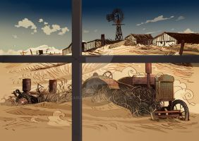 The Dust Bowl by CarlPearce