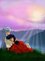 Inuyasha and Kagome by miko-hanyou