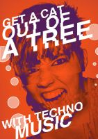 GET A CAT OUT OF A TREE ... with techno music by 29MiCHi92