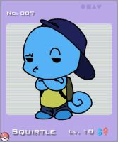 PKMN No. 7 Squirtle by CaribuDude