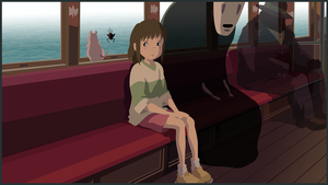 Spirited Away - Chihiro and No-Face by Judan