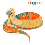 Orange Pit Viper FOR SALE (CLOSED!) by Lunar-Haven-Studios