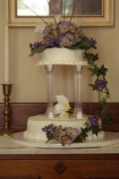 floral wedding cake 1 by nlpassions