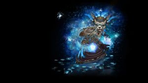 Pandaren shaman wallpaper for print by Myssham