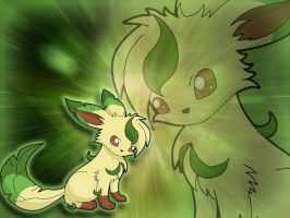 Leafeon Wallpaper by KanyMon