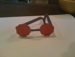 TR Lara's Glasses Papercraft by SaschaCraft