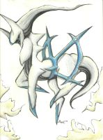 Arceus Flying by TheSonoftheDarkness