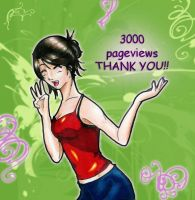 3000 pageview ThankYou by LorvicMeow