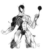 Spider-Man and Symbiote by SamWolk