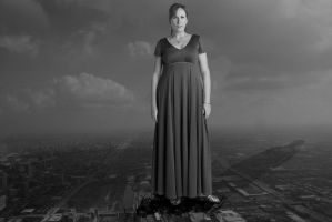 Giantess Donna Noble in Chicago by darthbriboy