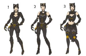 Steampunk Catwoman designs by Oriana132