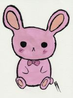 Pink Kawaii Bunny by jjmaclean