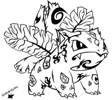 #002: Tribal Ivysaur by blackbutterfly006