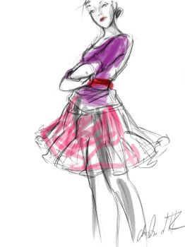 Shauna in a Pink Petticoat by Carigwen