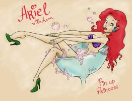 Ariel. Pin up Princess by BzikO