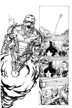 Avengers pencils by David Finch, inks by Curiel by lobocomics