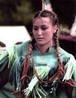 Female Native American Dancer by superdavej