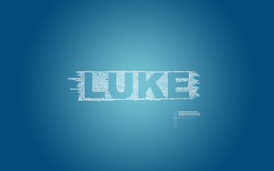 Luke Typography by SyntheticsArt