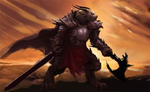 Charr Warrior draft by GenjiLim